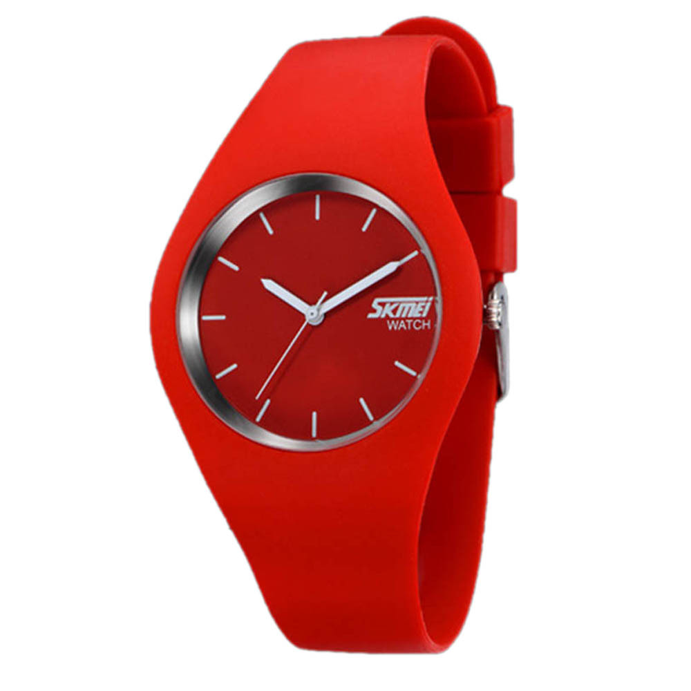 Men's Women's Sports Watches New Silicone Bracelet Waterproof Casual Wrist Watch