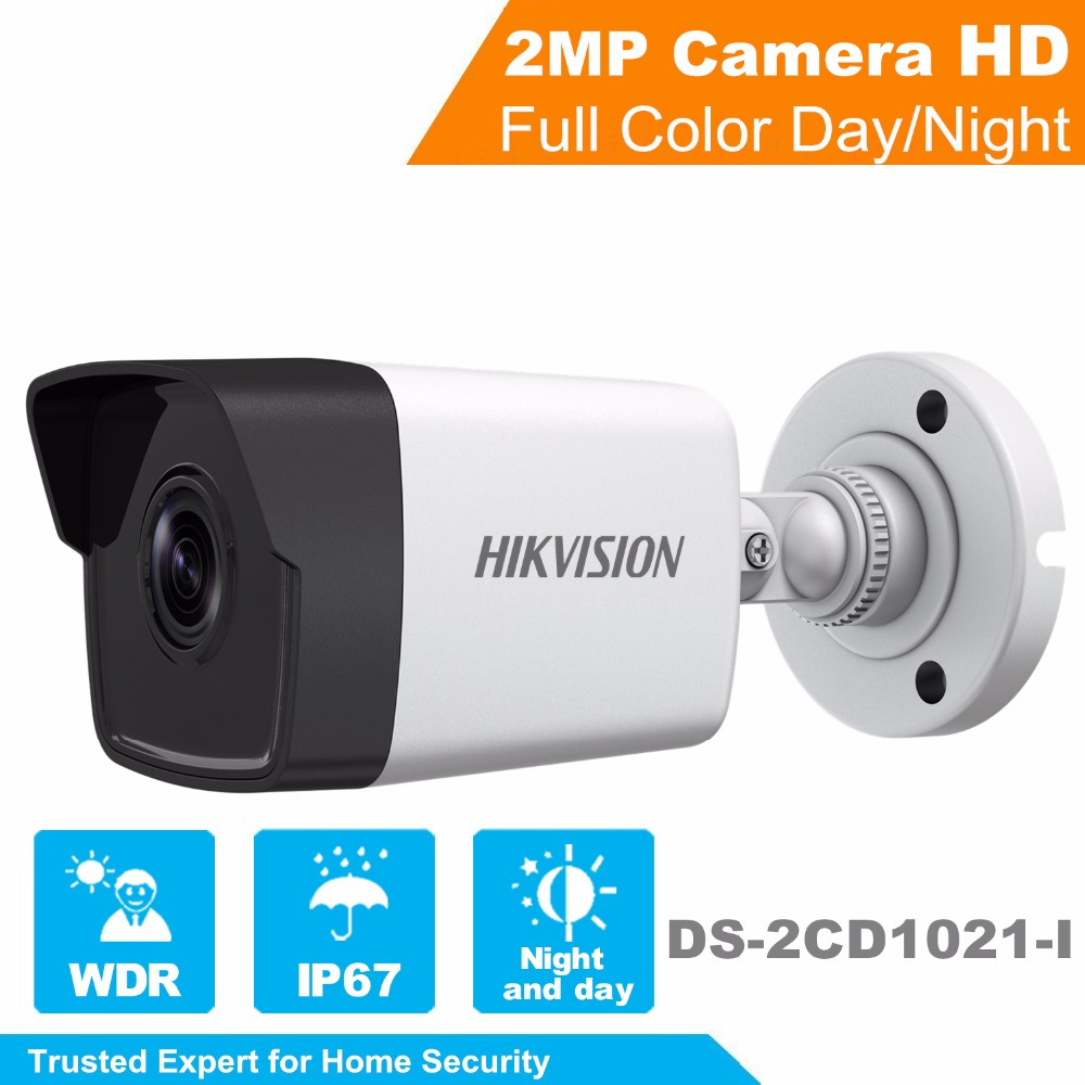 In Stock 2017 Hikvision New 1080P Security IP Camera DS-2CD1021-I 2MP CCTV camera indoor and outdoor use new in stock ip jw1 cy