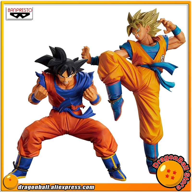 Japan Anime Dragon Ball Z Original Banpresto Son Gokou FES !! vol.2 Collection Figure - Son Goku + Super Saiyan Son Gokou dragon ball super original banpresto dxf the super warriors vol 4 collection figure super saiyan god super saiyan son goku