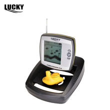 LUCKY Fish Finder Professional Fishing Tools Sensor Boat Sonar Wireless Transducer Mode Built-in Water Temperature Sensor FF918