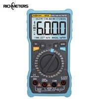 Richmetres 405A True-RMS 20A multimètre numérique 6000 comptes tension ca/cc courant Ohm température Auto/manuel onde carrée