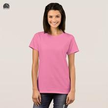 EnjoytheSpirit Female Plain T-shirt 16 Colors Brand New Round Neck Short Sleeve Pink T Shirt Fashion Cotton Summer Ladies Tee