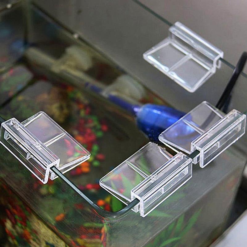 4Pcs/lot Fish Aquatic Pet Parts Aquarium Fish Tank Acrylic Clips Glass Cover Support Holders 6/8/10/12mm #0528