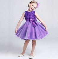 BernGi Princess Dress Lace Tutu Flower Kids Clothing Princess Dress Of Girl Wedding Party Performance Costumes