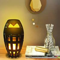 Outdoor Wireless LED Flame Bluetooth Speaker with Lamp