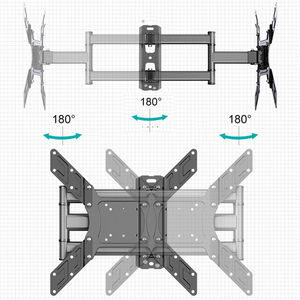 """Image 5 - TV Wall Mount Swivel Tilt Bracket for 26 50"""" LED Flat Screen Monitor VESA 400x400 with Full Motion Articulating Extension Arm"""