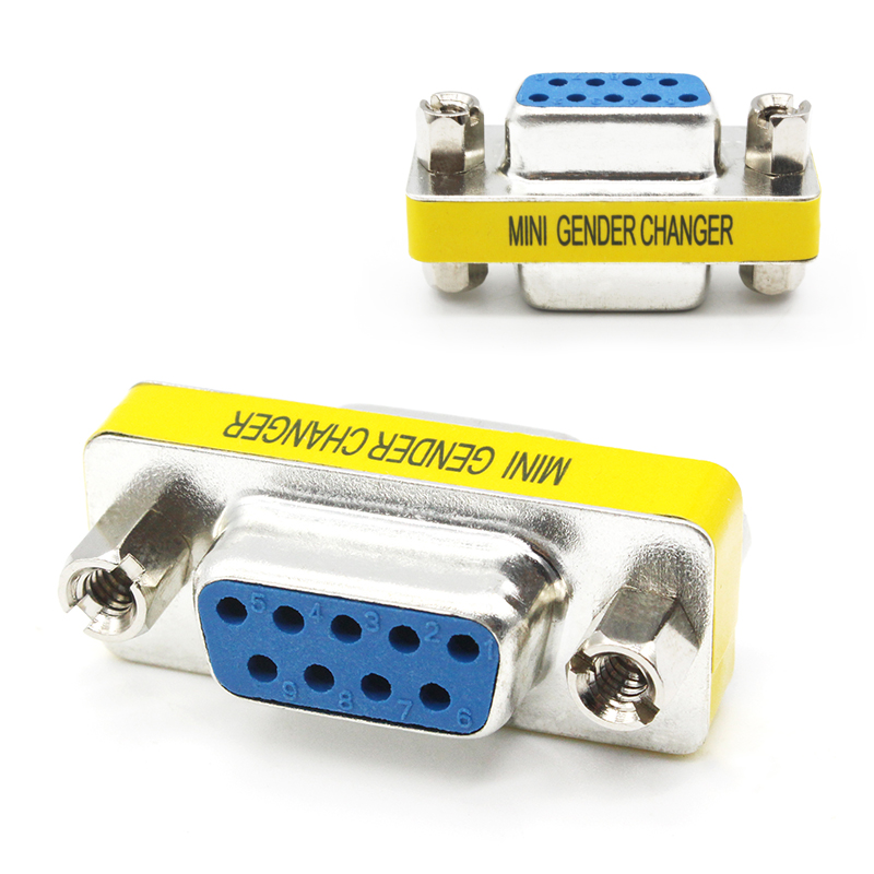RS232 9pin Female Serial RS232 Gender Changer Coupler Joiner Cable Cord Adapter