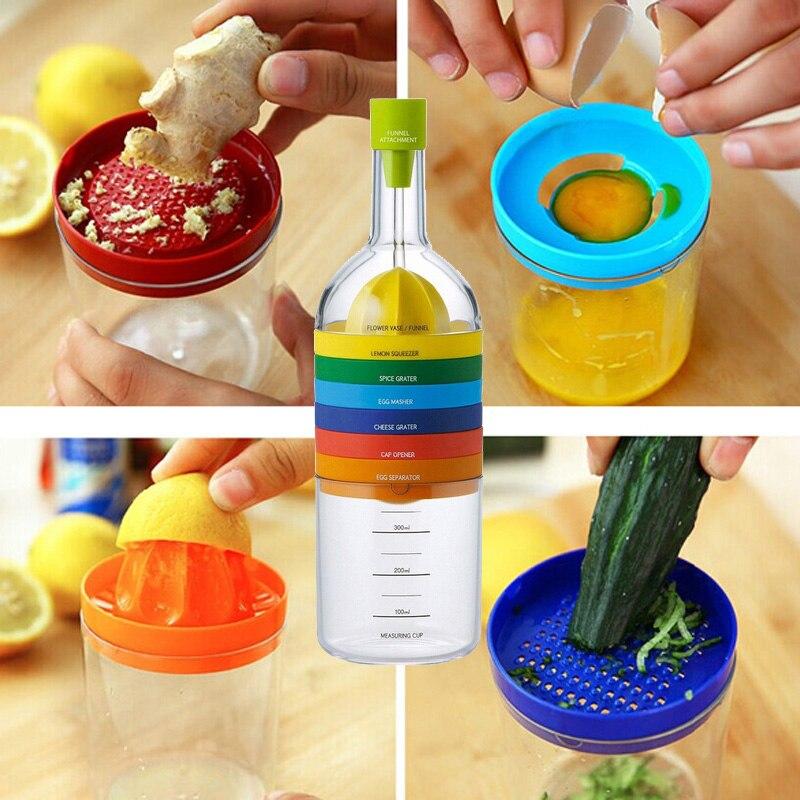 New 2017  Multi Functional 8 in 1 Kitchen Tool Set Multipurpose Kitchen Gadget K