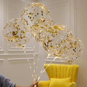 Image 5 - 50 pièces BoBo Ballons Ballon LED Clair Bulle Ballon De Mariage Décorations de Fête Danniversaire Enfants Adultes globos cumpleanos infantiles