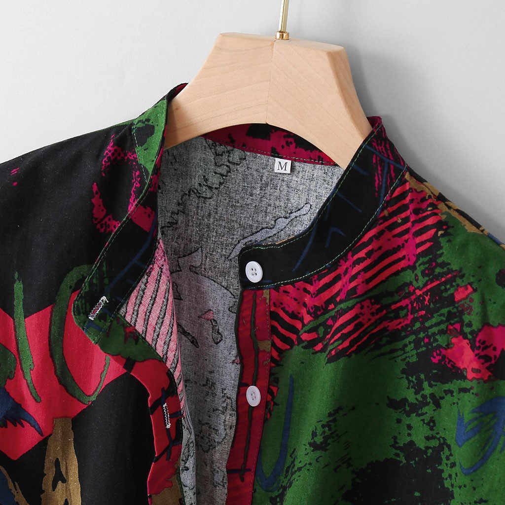 夏のファッションアロハシャツ男性多色格子縞の半袖ボタンストリートブラウス赤スリムフィットカジュアルシャツ男性 2019
