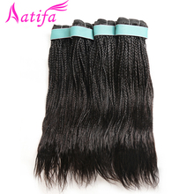 Brazilian Curly Hair Braid 100% Human Hair Weave Bundles 3/4 Bundles remy Hair 10-28 inch Natural Color Aatifa Hair Extensions