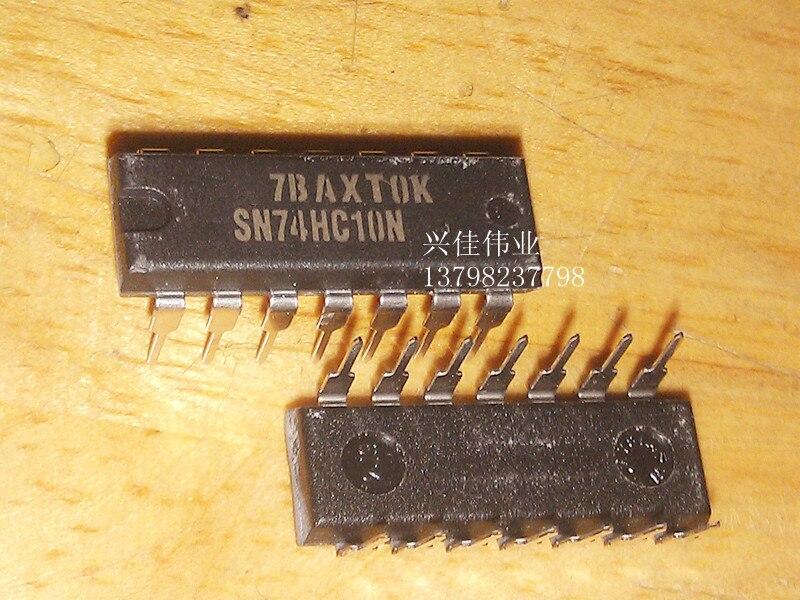 50 PCS SN74HC10N DIP-14 74HC10 74HC10N Triple 3-input NAND Gates