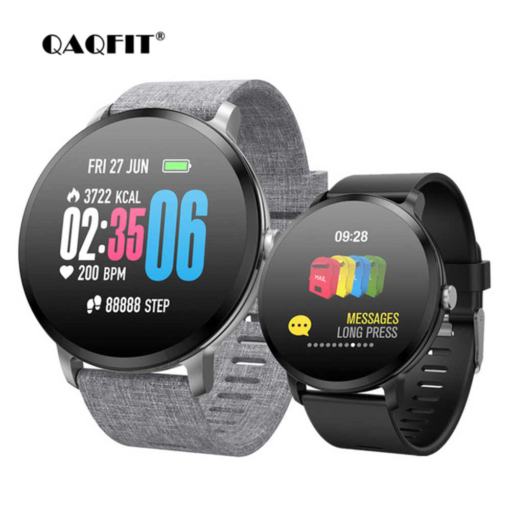 QAQFIT V11 Smart Watch IP67 Waterproof Sport Prdometer Fitness Tracker Heart Rate Monitor Alarm Clock For Men Women Smartwatch colmi v11 smart watch ip67 waterproof tempered glass activity fitness tracker heart rate monitor brim men women smartwatch