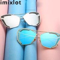 IMIXLOT Fashion Design Sunglasses For Women Men Cat Eye Sun Glasses Male Mirror Eyewear Female Vintage oculos de sol feminino