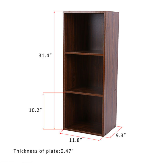 3 Layers Bookcase Wood Storage Cabinets Display Shelves Bookshelf Shelf Level Tier Stand Rack Unit Cube