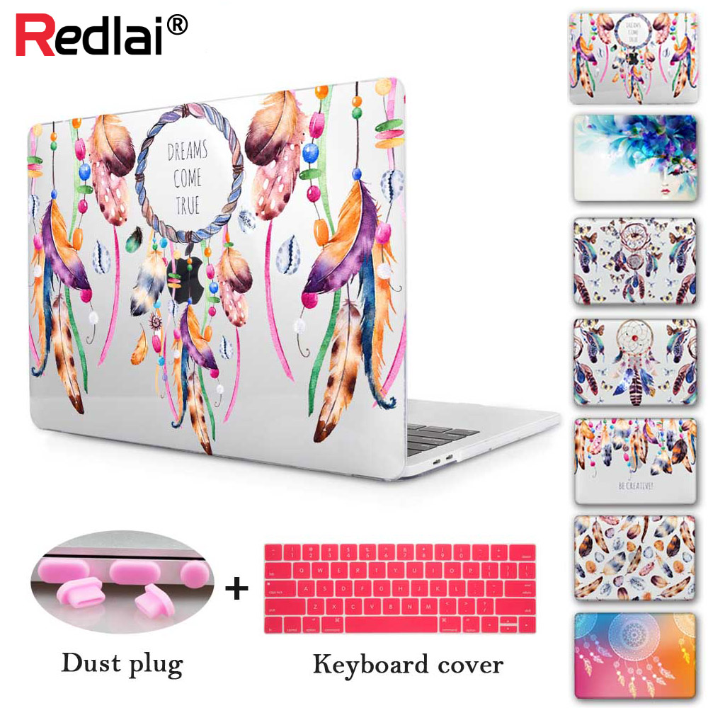 Redlai A2141 A2159 A1932 Case Plastic Hard Shell Cover for MacBook Air Pro Retina 11 12 13 15 16 inch Laptop Protective Case image