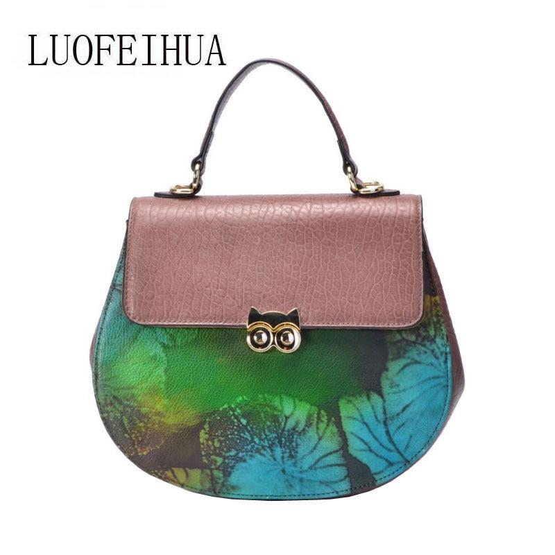 Genuine Leather women bags for women 2019 new fashion handbag brand bag ladies designer bag Saddle bagGenuine Leather women bags for women 2019 new fashion handbag brand bag ladies designer bag Saddle bag