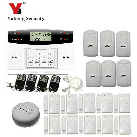 YoBang Security Wireless 433MHZ GSM SMS Home Security Alarm System Detector Sensor Russian Spain France Ltaly Czech Republic.
