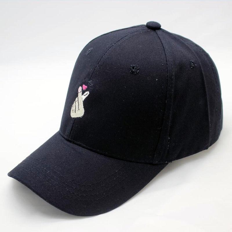 BINGYUANHAOXUAN 2017 New Cap Gorras Harajuku Style Ring Finger Love Snapback Male Bone Baseball Cap Fashion Cap Hat Hip Hop Hats in Men 39 s Baseball Caps from Apparel Accessories