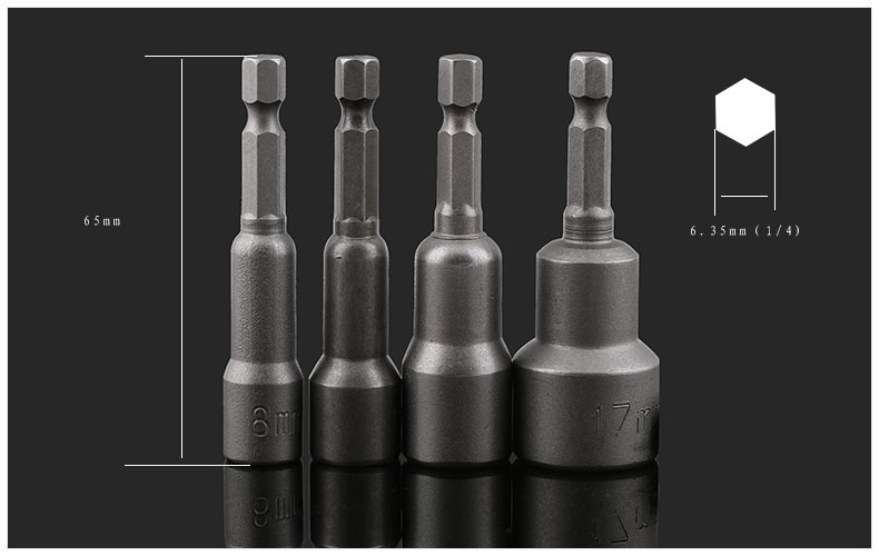 Strong magnetic wind, batch head sleeve, outer six angle drill, screwdriver head, L pneumatic tool sleeve, sleeve head
