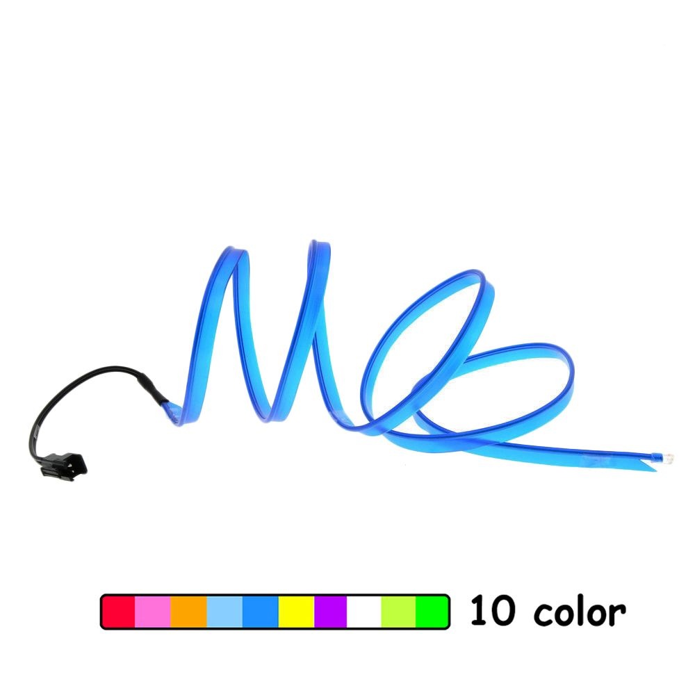 EL Wire Neon Lights Dance Festival led strip EL lights With 2.3 MM with 6 MM sewing edge for car decorative