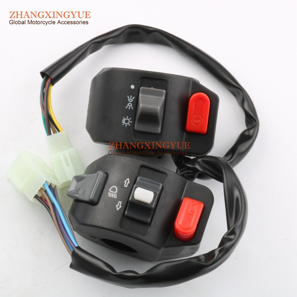 (Right/Left) Brake Lever & Side Control Switch for GY6 Moped Scooter 50cc 125cc 150cc starpad for heroic gy6 125cc 150cc moped carburetor