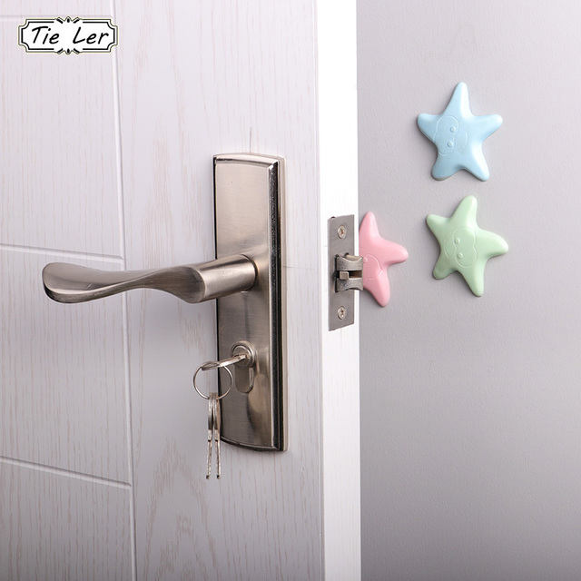 2PCS Wall Thickening Mute Fenders Door Wall Stick Starfish Modelling Rubber Handle Door Lock Protective Pad Home Wall Stickers