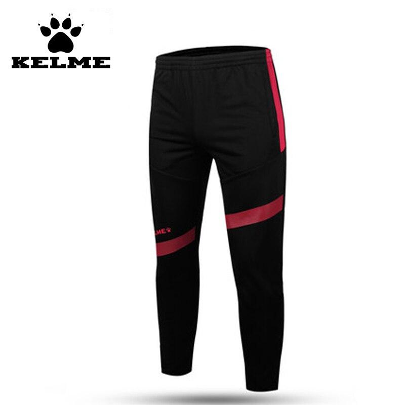 KELME offre spéciale course à pied Sport pantalon hommes taille élastique Futbol Survetement Jogging entraînement Football 2016 exercice pantalon Sport 43