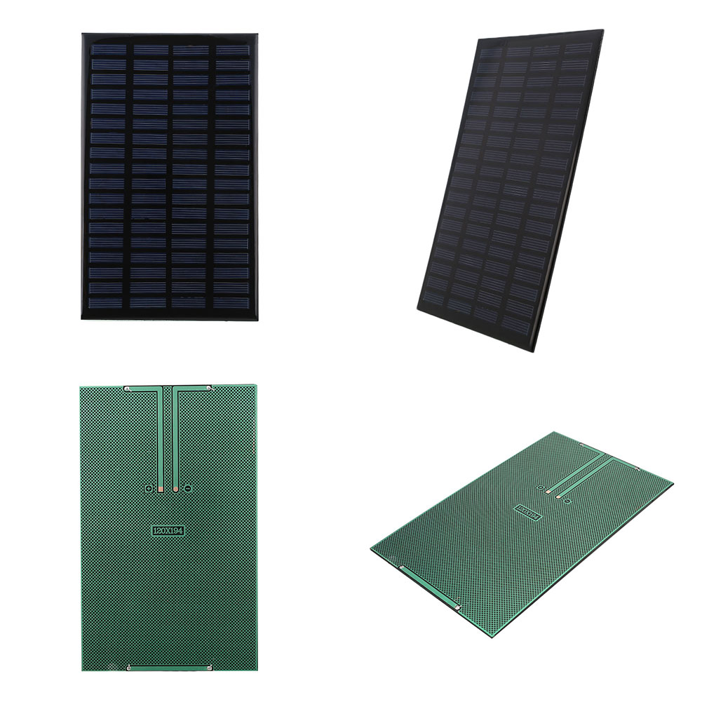 Portable 2.5W 18V Silicon Solar Charging Panel Home DIY Mini Solar Panel Module Solar Cell Charger 120x194mm
