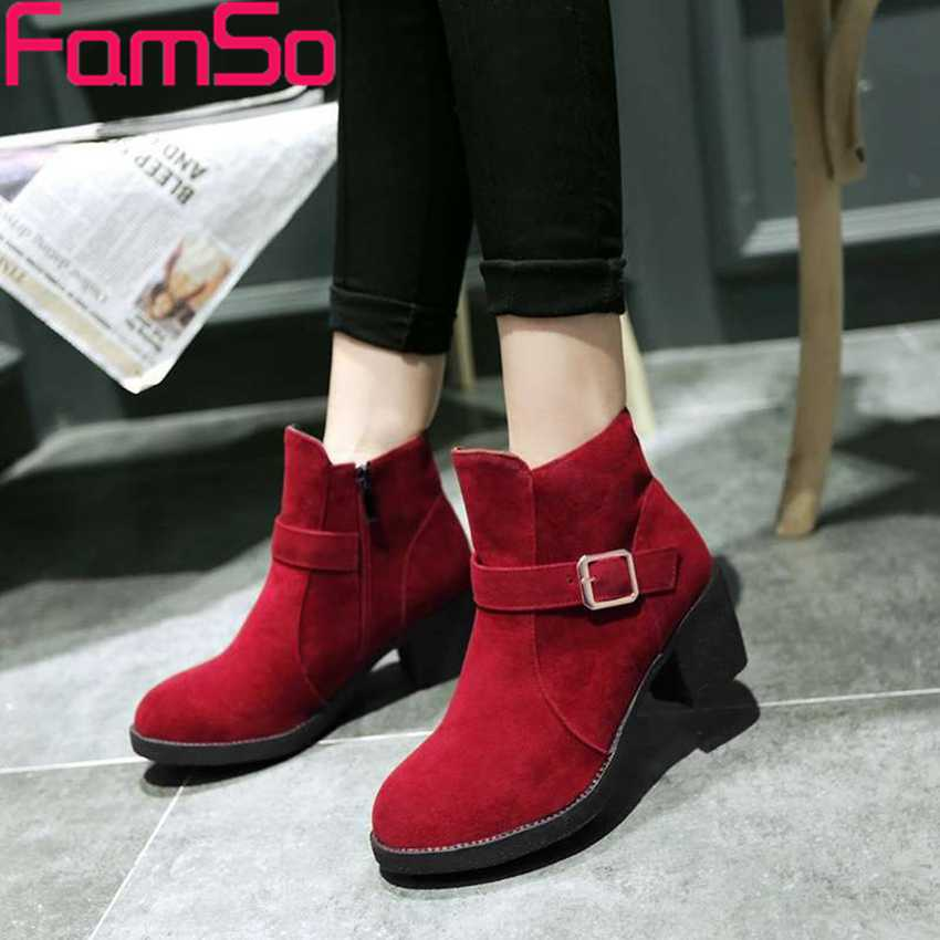 Plus Size34 43 2016 New Sexy font b Women b font Boots Designer High Thick Heels