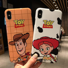 Fun toy story grafische glossy IMD soft phone case Voor iphone X XR XS MAX 6 6S 7 8 plus soft silicon case voor iphone X Case capa(China)