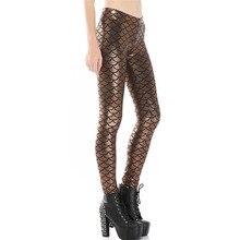 DOUBCHOW Women Elastic Waist Digital 3D Printed Leggings 2017 Ladys Girls Strechy Pants Mermaid Costume Fish Scale Plus Size 3XL