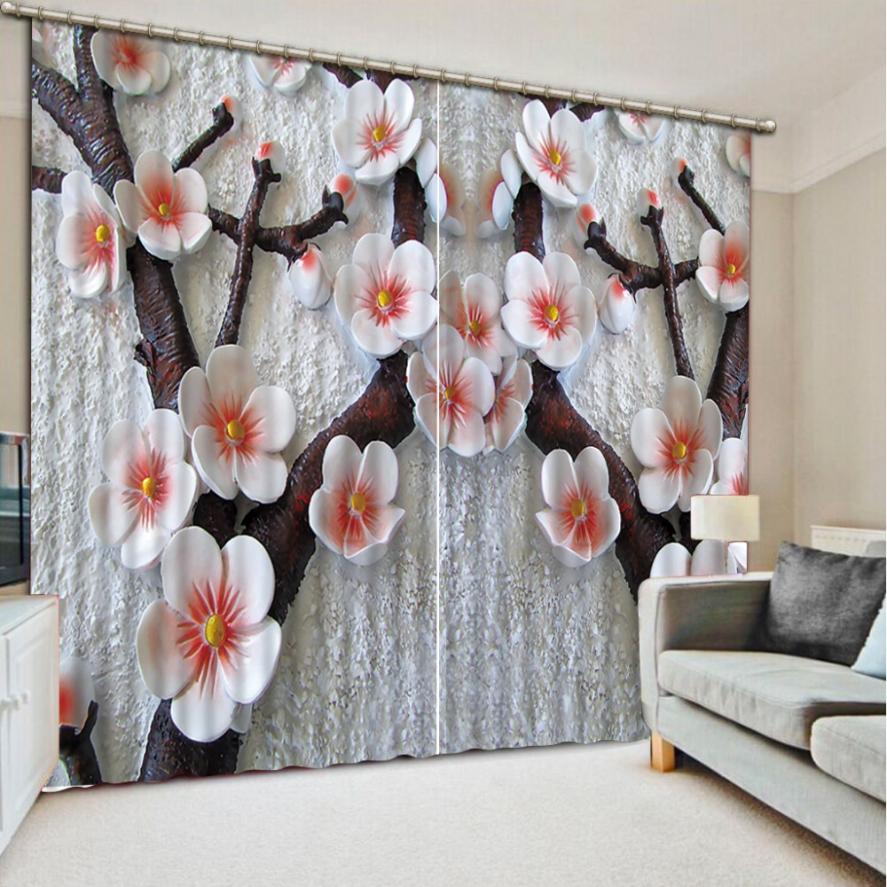 Modern style Relief flower Bedding room 3D Curtains Curtain window room Factory diret saleModern style Relief flower Bedding room 3D Curtains Curtain window room Factory diret sale