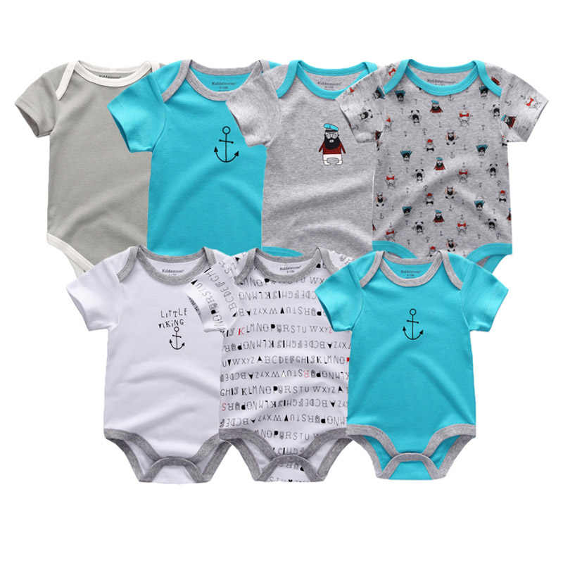 6f6e7dd05ca57 ... Uniesx Newborn Baby Rompers Clothing 7Pcs/Lot Infant Jumpsuits 100%Cotton  Children Roupa De ...