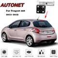 AUTONET HD Nachtzicht Backup Achteruitrijcamera Voor Peugeot 208 2012 2013 2014 2015 2016 2017 Originele gat/ kentekenplaat camera