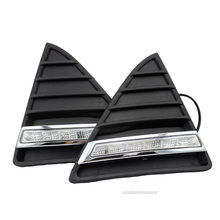 Free Shipping 2pcs/lot Daytime Running Light Auto DRL Car Styling 12v DC for Ford Focus with Amber Turn Light