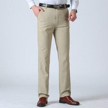 aaf144fb33 Los hombres de verano Pantalones de traje de los hombres Slim Fit pantalones  de vestir Oficina ropa de trabajo pantalones de los hombres Plus tamaño  negocio ...