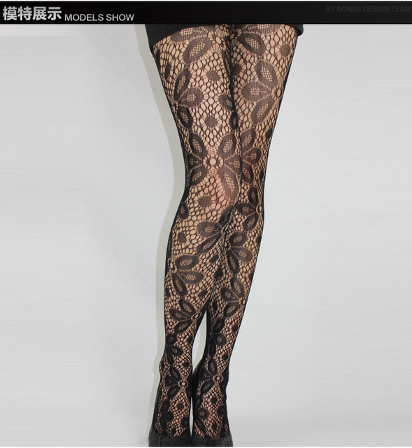 Fishnet Pattern Jacquard Pantyhose Tights - 1pcs dww42 1