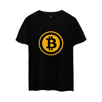 Bitcoin Logo Cotton Short Sleeve T-shirt For Men and Women