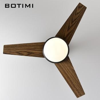 Deckenleuchten Lowes | BOTIMI Praktische LED Decke Fan Für Niedrige Decke Moderne Fan Lichter Fernbedienung Kühlung Decke Fans Innen Beleuchtung Fan Lampen Leuchte