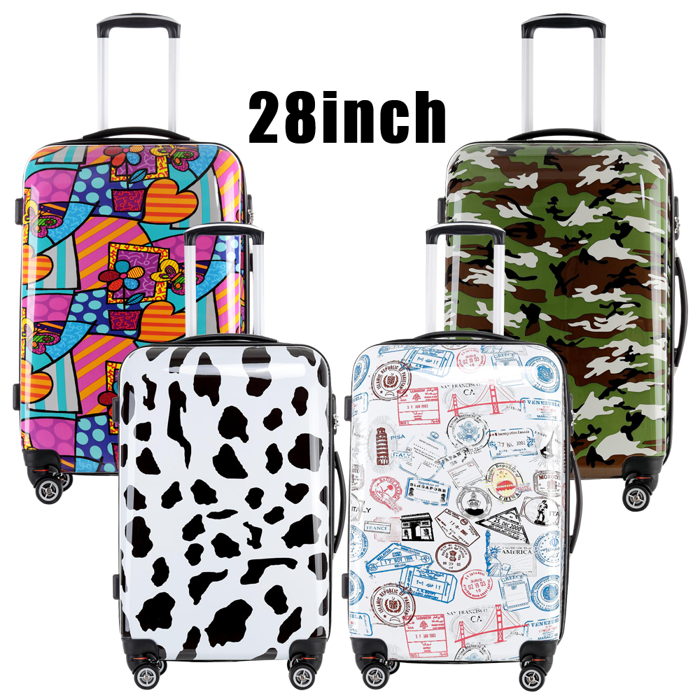 2016 Fochier Women Men Luggage Colorful 28 inches Hard Shell Rolling Luggage Rolling Luggage 5 color
