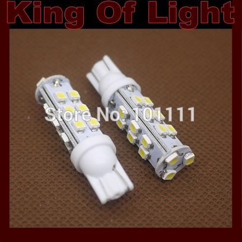 100x Strobe T10 21SMD 3528 flash Car Auto LED 194 W5W 5 leds smd Wedge LED Light Bulb Lamp Free shipping