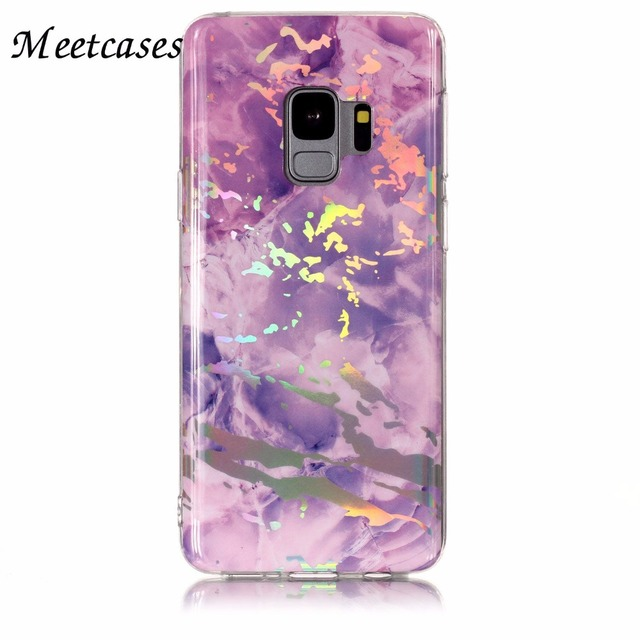 timeless design 020c2 ef5a5 Meetcases Pink Black holo marble phone cases For samsung s8 TPU soft  material New Arrive styles