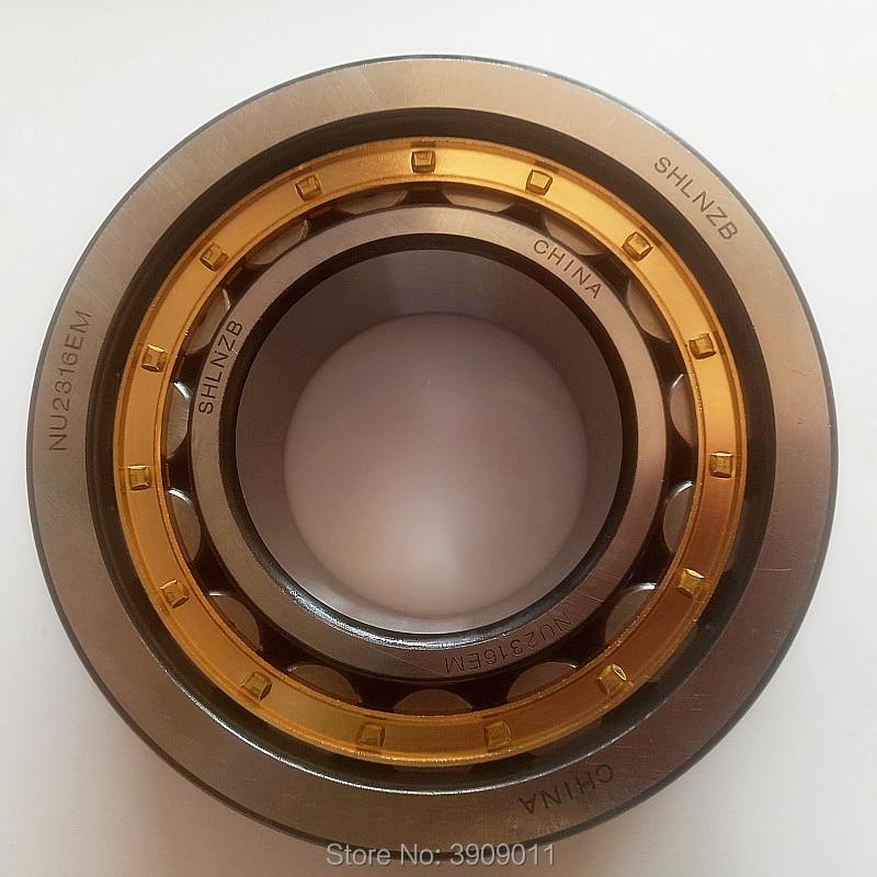 SHLNZB Bearing 1Pcs NU2316 NU2316E NU2316M NU2316EM NU2316ECM 80*170*58mm Brass Cage Cylindrical Roller Bearings shlnzb bearing 1pcs nu1022 nu1022e nu1022m nu1022em nu1022ecm 110 170 28mm brass cage cylindrical roller bearings