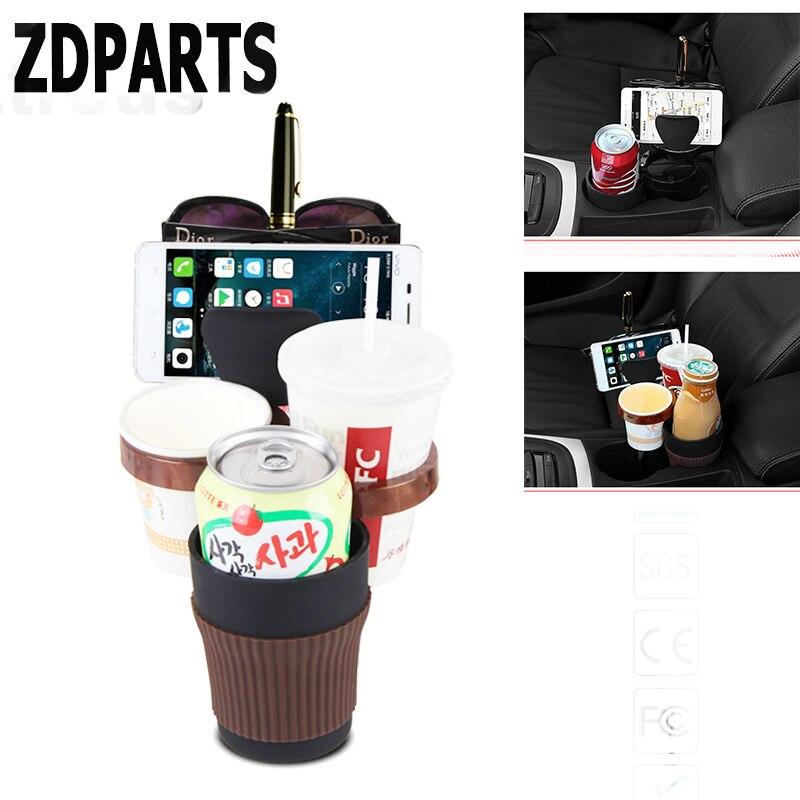 ZDPARTS Car Coin Drink Glasses Phone Storage Cup Holder For Mitsubishi Asx Infiniti q50 Nissan Qashqai Juke X-trail T32 Acura
