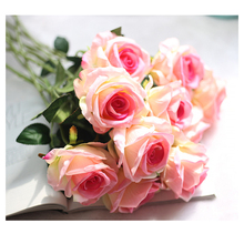 Velvet Rose Flower Wedding Decoration Home Artificial Flowers Marriage Home Decor DIY Bridal Bouquet D20