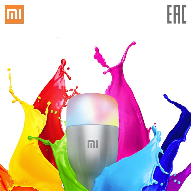 Mi LED Smart Bulb Xiaomi Mi Smart Light Bulb Wi-Fi LED Bulb App Control New Year bluetooth control music playing speakers e27 led bulbs colors change dimmable wireless smart lamp lighting ios android app