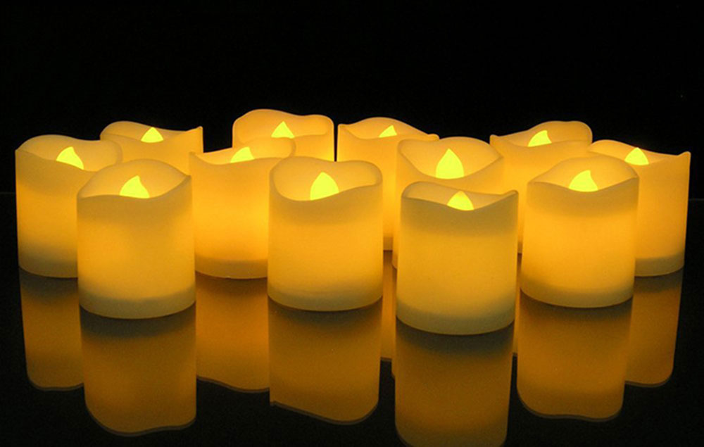 12pcs Flameless LED Candle Flicker Light Lamp Decoration Electric Battery-powered Candles Yellow Tea Light Party Wedding Candle 4