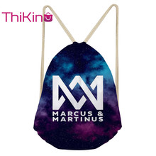 Thikin Marcus And Martin Casual Sack Drawstring Bag for Women Travel Backpack Toddler Softback Lady Beach Mochila DrawString Bag