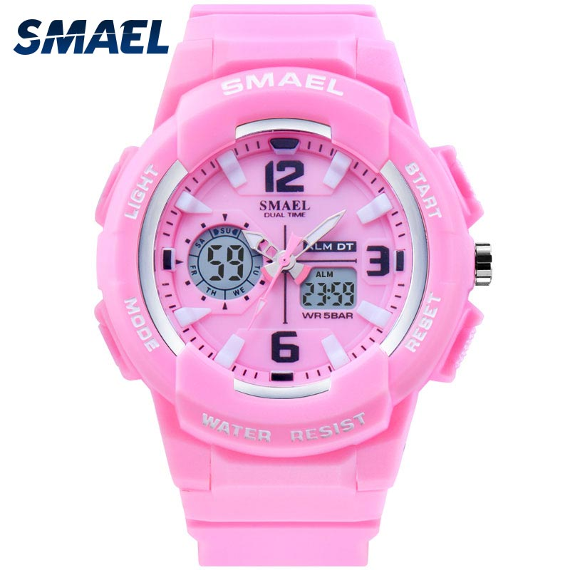 SMAEL Kids Digital Watches Boys Clock Men Sport Watch Waterproof Kids LED Display Relogio1643 Children Watches For Girls Digital